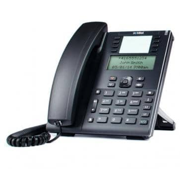 "Mitel 6865 SIP phone with large 3.4"" 128x48 pixel LCD displa"
