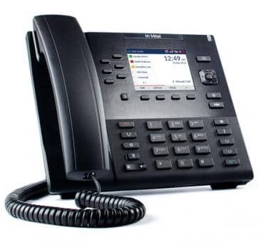"Mitel 6867 SIP phone 3.5"" color backlit LCD display"