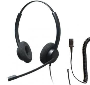 Addasound CRYSTAL 2732 Binaural Headset + DN1008 adapter cable