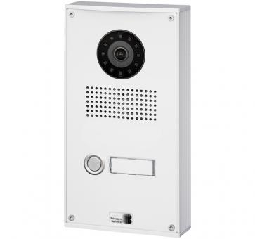 Telecom Behnke series 5 white 1 button IP doorstation Aluminium 5-0024-IP wall mount