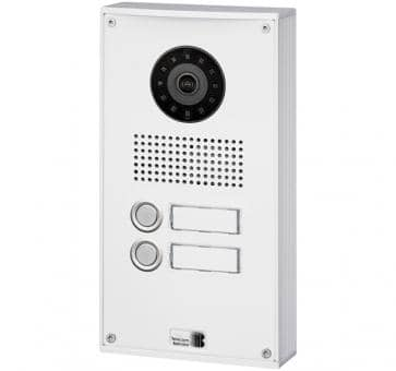 Telecom Behnke series 5 white 2 buttons IP doorstation Aluminium 5-0036-IP wall mount
