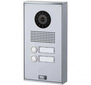 Telecom Behnke series 5 silver 2 buttons IP doorstation Aluminium 5-0037-IP wall mount