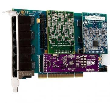 Digium HB8-0000BLF Hybrid Base Card PCIe 8 Ports + HW EC