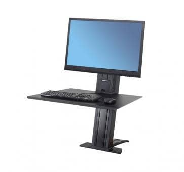 Ergotron WorkFit-SR Single Monitor black Sit-Stand Desktop W