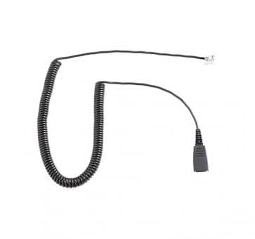 freeVoice FCF cord with QD and RJ9 curled 8800-01-37-FRV