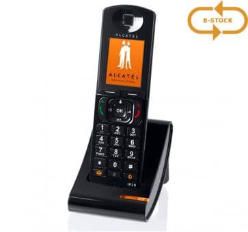 Alcatel IP20 black handset with charger B-Stock