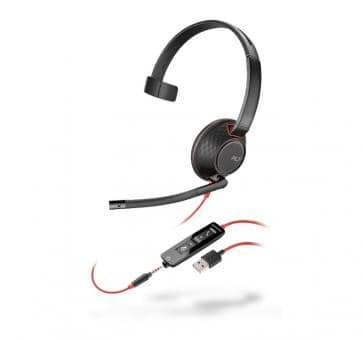 Plantronics Blackwire 5210 Headset USB and jack Mono NC 2075