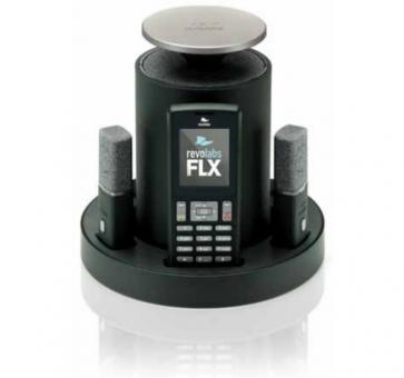 Revolabs FLX 2 analog conferencing system with 2 table microphones and 2 speakers