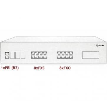 Xorcom IP PBX - 1 PRI + 8 FXS + 8 FXO - XR2072