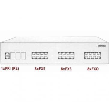 Xorcom IP PBX - 1 PRI + 16 FXS + 8 FXO - XR2074