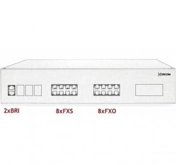Xorcom IP PBX - 2 BRI + 8 FXS + 8 FXO - XR2090