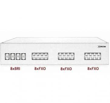 Xorcom IP PBX - 8 BRI + 24 FXO - XR2101