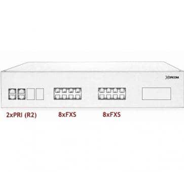 Xorcom IP PBX - 2 PRI + 16 FXS - XR3058