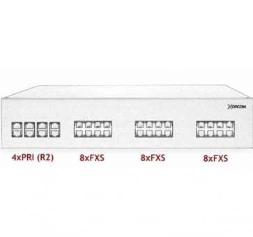 Xorcom IP PBX - 4 PRI + 24 FXS - XR3062